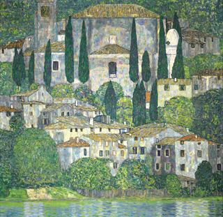Kirche in CassoneKirche in Cassone (Landschaft mit Zypressen) (Church in Cassone - Landscape with Cypresses)